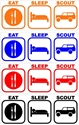 Picture of Eat, Sleep, Scout decal